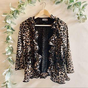 Berek | Cheetah Print Jacket w/ Sequins